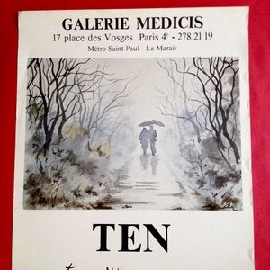 Vintage French Art Gallery Galerie Medicis Poster